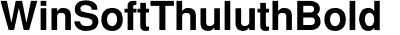 WinSoft Thuluth Bold
