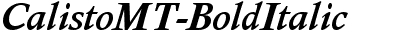 Calisto MT Bold Italic