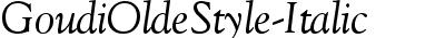 GoudiOldeStyle-Italic