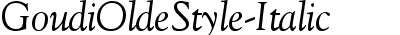 Goudi Olde Style Italic