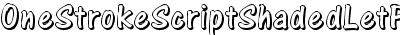 One Stroke Script Shaded LET Plain:1.0