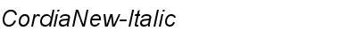 Cordia New Italic