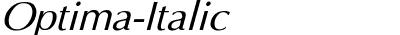 Optima Italic