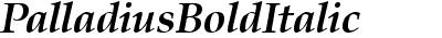 PalladiusBoldItalic
