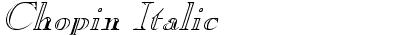 Chopin Italic