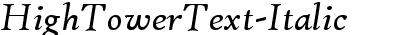 HighTowerText-Italic