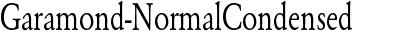 Garamond-NormalCondensed