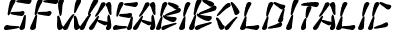 SF Wasabi Bold Italic
