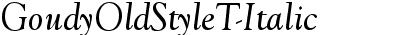GoudyOldStyleT-Italic