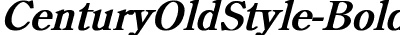 CenturyOldStyle Bold Italic
