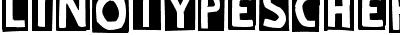 Linotype Schere