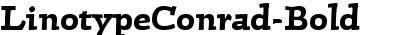 LinotypeConrad-Bold