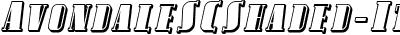 AvondaleSCShaded-Italic