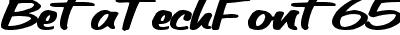 BetaTechFont65-SPBold
