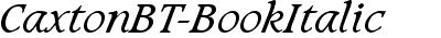CaxtonBT-BookItalic