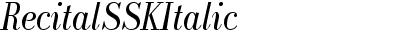 RecitalSSK Italic