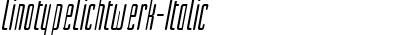 Linotype Lichtwerk Italic