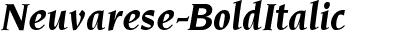 Neuvarese-BoldItalic