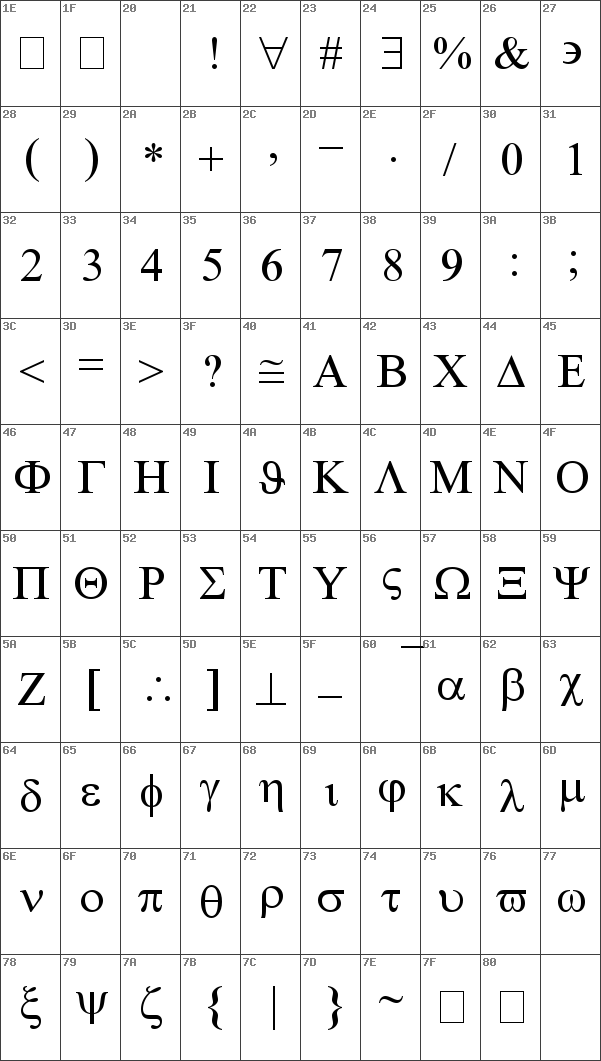 Symbolmt Font