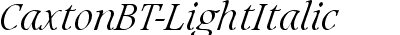 Caxton Light Italic BT
