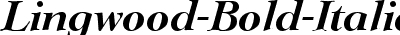 Lingwood Bold Italic