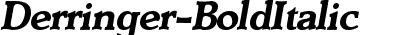 Derringer-BoldItalic
