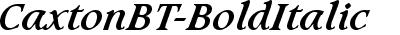 CaxtonBT-BoldItalic