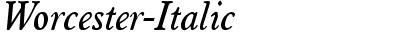 Worcester-Italic