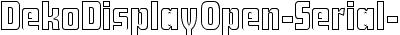 DekoDisplayOpen-Serial-Regular DB