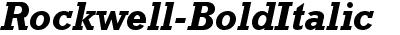 Rockwell Bold Italic