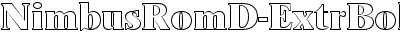 NimbusRomD-ExtrBoldOu1