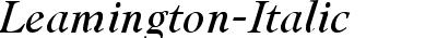 Leamington Italic