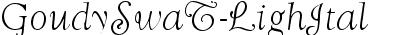 GoudySwaTLig Italic