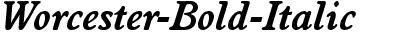 Worcester-Bold-Italic
