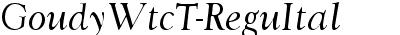 GoudyWtcT Italic