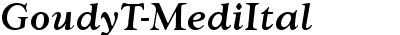 GoudyTMed Italic