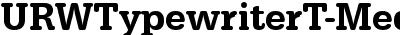 URWTypewriterT-MediNarr