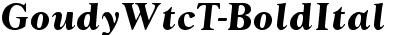 GoudyWtcT Bold Italic