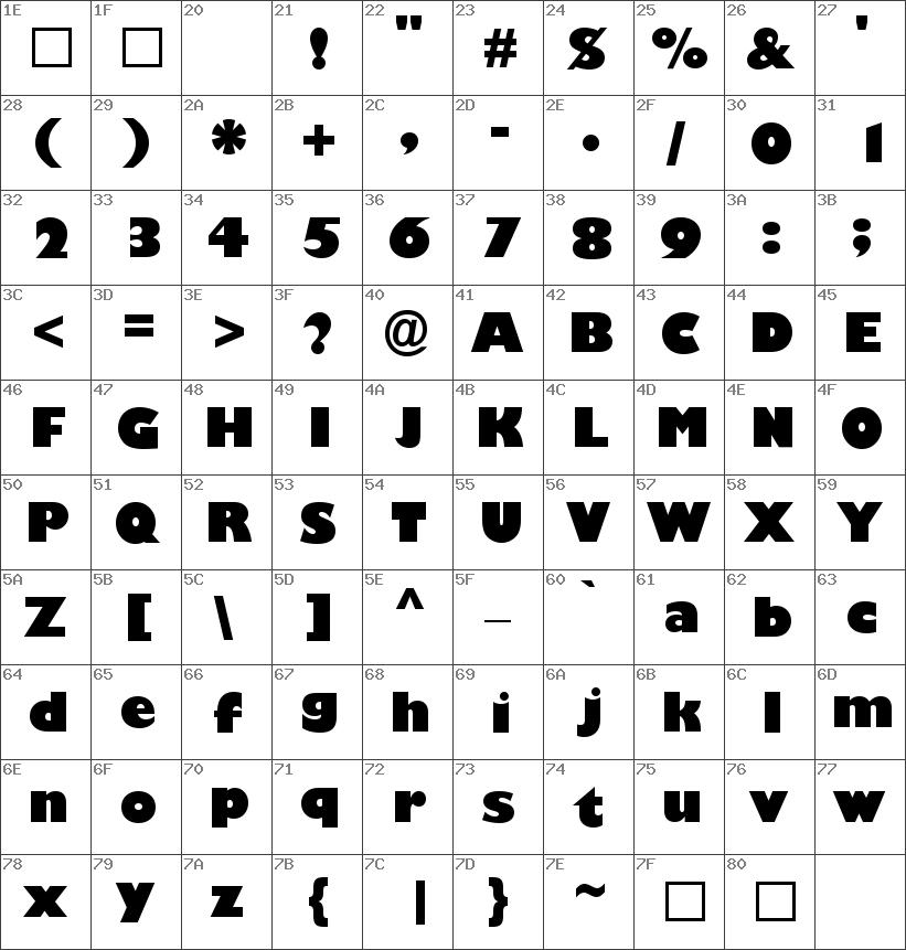 GillSans-UltraBold font