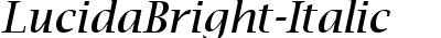 LucidaBright-Italic