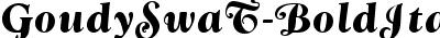GoudySwaT Bold Italic