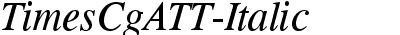 Times CG ATT Italic