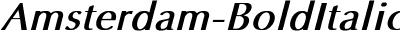 Amsterdam Bold Italic