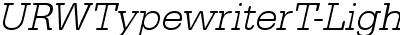 URWTypewriterT-LighObli