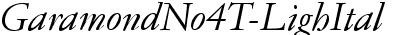 GaramondNo4TLig Italic