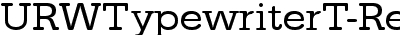 URWTypewriterT-ReguWide