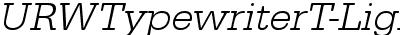 URWTypewriterT-LighWideOb...