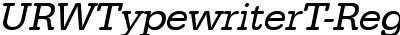 URWTypewriterT-ReguObli