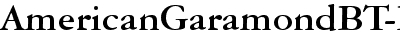 American Garamond Bold BT