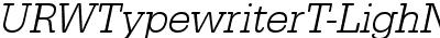 URWTypewriterT-LighNarrOb...